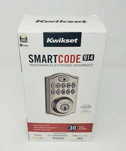 Kwikset Smartcode 914 Touchpad Electronic Deadbolt - Satin Nickel (New)