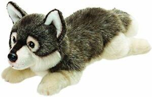 Suki Gifts 12121Lying Wolf Soft Toy 33cm - Yomiko