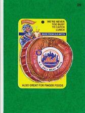 2016 TOPPS WACKY PACKAGES MLB - NEW YORK METS DELI MEAT - GREEN GRASS INSERT!!!