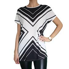 Les Vipes Damen Bluse schwarz weiß Gr. S-M