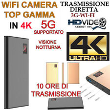 Spy Camera Spia WIFI 4k TELECAMERA MICRO NASCOSTA MICROCAMERA 3g infrarossi