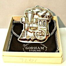 Kirk Stieff Christmas Toy Train Ornament with Gorham Box and Pouch