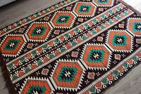 135 x 200 cm Orientalischer Teppich,Kelim,Rug,Carprt,Tapis, Damaskunst S 1-4-80