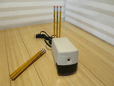 BOSTON Model 19 Beige Electric Pencil Sharpener Made in USA With 10 Pencils