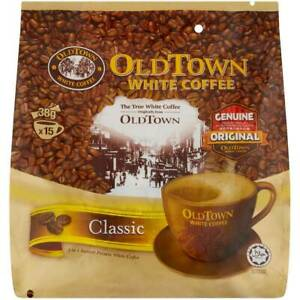 2 x Old Town Instant White Coffee 3 in 1 OldTown Classic 38G x 15 Sachets