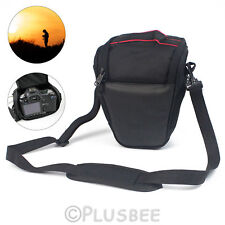Triangolo Digitale DSLR SLR Camera Spalla Borsa Custodia Per Nikon Canon EOS Sony UK