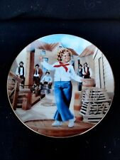 "Danbury Mint "" Captain January "" Shirley Temple Plate with Coa"