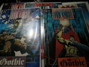 Batman Legends of The Dark Knight #6-7-8-9-10 Gothic Story Arc-1990-full Story