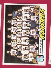 1977-78 OPC HKY #82 N Y RANGERS TC EX/MT