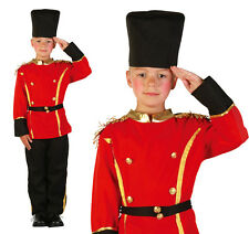 Childrens British Queens Guard Fancy Dress Costume Boys Soldier Outfit Childs S