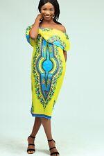 Women Dashiki  African print dress. Simple and classy. Handmade S-XL.