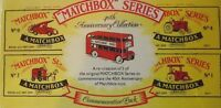 Matchbox. 40th Anniversary Collection. Produced 1988