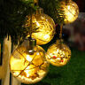 Warm White LED Transparent Ball Light Christmas Tree Hanging Ornament Decoration