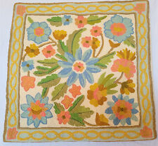 """NEW 16x16"""" ARI 100% Crewel Covered Chain stitch Embroidery Kashmir Pillow-Case"""