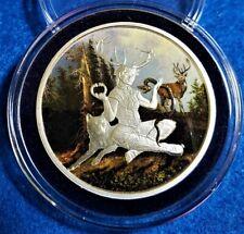 """Celtic Lore """"Cernunnos"""" 1 oz .999 Silver Round Colorized in Decor Capsule"""