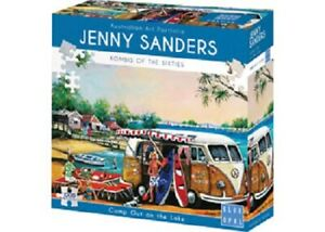 Blue Opal 1000 Piece Jigsaw Puzzle - Jenny Sanders: Camp Out On The Lake