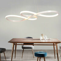 Modern LED Acrylic Chandelier Curve Pendant Light Ceiling Lamp for Dining Room
