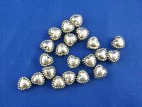 PD: 200 Antik Silber Metall Perlen Spacer Herz 5x5mm