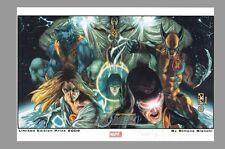 Simone Bianchi Signed Astonishing X-Men Art Print ~ Wolverine Emma Frost Storm