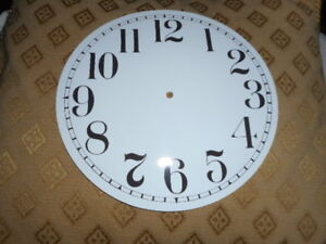 """Round PAPER (CARD) Clock Dial - 6 1/2"""" MINUTE TRACK - Arabic - GLOSS WHITE-Parts"""