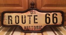 ROUTE 66 Historic Vintage old look street Metal Auto Shop Motor Ford Chevy Wall