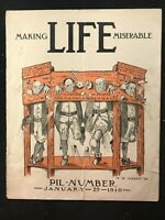 MAKING LIFE MISERABLE Magazine - January 29 1910 - TR Hardy Cover
