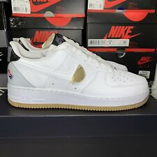 NBA x Nike Air Force 1 07 LV8 White Gold Gum CT2298-100 Size 10.5 Men IN HAND