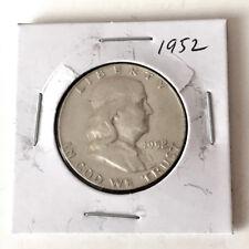 1952 FRANKLIN HALF DOLLAR US SILVER COIN Lot 47P