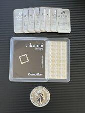 More details for 5 x 1 gram 999 fine silver valcambi suisse bullion bar/coin -- new design 2021!