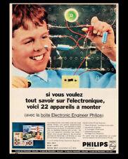 PUB / PUBLICITE / AD  PHILIPS Jouet La boîte électronic ENGINEER  Vintage 1966