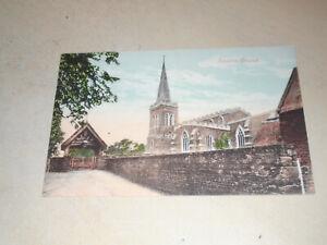 EARLY 1900s POSTCARD - FINEDON CHURCH, FINEDON, NORTHAMPTONSHIRE