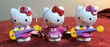 Lot set of 3 Hello Kitty Guitar Cheerleader Christmas Ornaments Decoration New