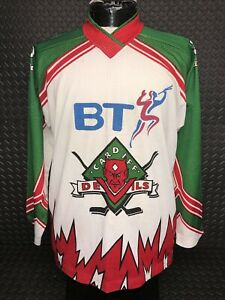 Cardiff Devils Ice Hockey Vintage Match Worn Jersey Size Medium Good Condition