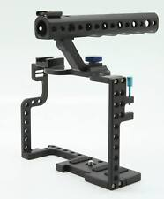 DSLR Camera Cage W/ Top Handle Grip For Panasonic Lumix GH5 Camera Rig Aluminum