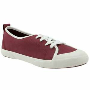 Sperry Breeze Canvas Sneakers Shoes Women's Size 7 Oxblood Red Maroon