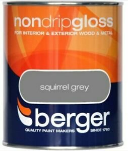 Berger Squirrel Grey Gloss Finish  750ML for Wood and Metal