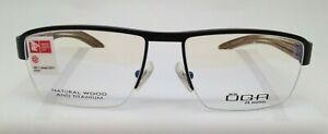 OGA Morel 7958O Black GM 020 Titanium/Wood Eyeglasses Frame 55-17-140 France