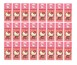 24 PACK HELLO KITTY CAR AIR FRESHENERS HANGING HOME OFFICE CAR VALETING CITRUS