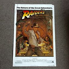 Raiders Of The Lost Ark 1981 Harrison Ford Re-Release Adventure Richard Amsel