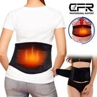 Lower Back Support Belt Lumbar Pain Herniated Disc Strain Sciatica Heating Brace