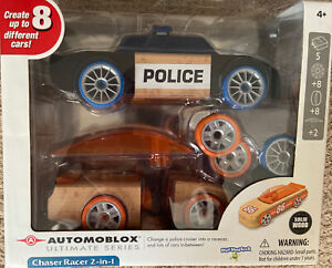 Automoblox Ultimate Series Chaser Racer. 2-in-1- Police Cruiser / Racecar.