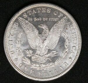 1881-S Silver Morgan Dollar UNC some cameo on reverse