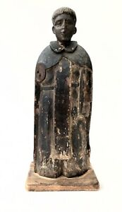 A 19th century Mexican carving of a Franciscan monk. FREE DELIVERY.