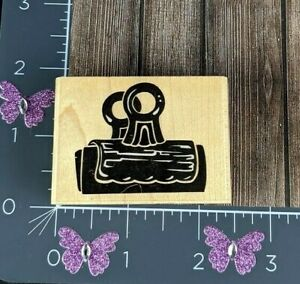 Rubber Stampede Stamp Paper Clip Posh Impressions Office Supply #R86