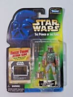 Star Wars The Power of the Force BOBA FETT Action Figure NIP Freeze Frame