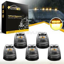 5x Clear/Yellow LED Cab Roof Top Light Kit for 17-19 Ford F-250 F-350 Super Duty