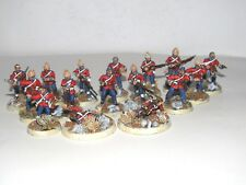 28mm METAL BTD COLONIAL ZULU WARS INFANTRY X16 NEWLY PAINTED FREE TRACKED UK P&P