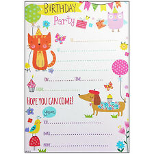 Buy birthday child animals cards stationery for invitations ebay 20 x owl themed party invitations invites with envelopes childrens girls notes stopboris Gallery