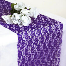 "PACK of 20 Wedding 12"" x 108"" Lace Table Runner Party Venue banquet Decoration"