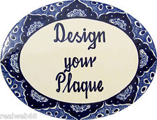 Mexican Ceramic Talavera Custom Wall House Address Plaque  # 03